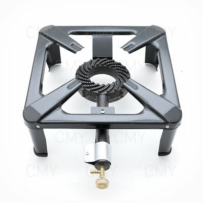 100% 8 kw Large Lpg Gas Burner Cooker Cast Iron Boiling Ring Camping Catering