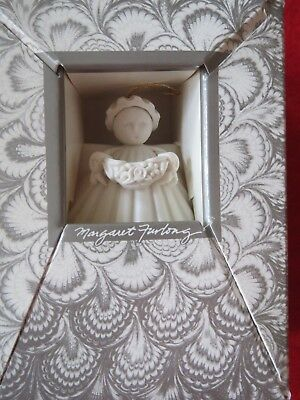 Margaret Furlong  FLOWER GARDEN ANGEL Bisque Porcelain Ornament