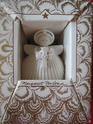Margaret Furlong NEW HEART OF FAITH Bisque Porcelain Angel Ornament