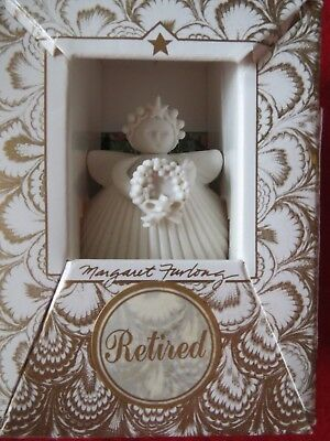 Margaret Furlong  WREATH Bisque Porcelain Angel Ornament
