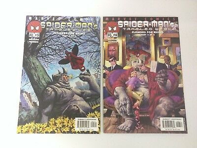 Spider-Man's Tangled Web #5 & #6 (2001) VF 8.0 Flowers For Rhino Part 1 & 2