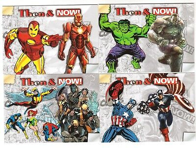 2014 Marvel Now! 10-card Then & Now Inserto Juego