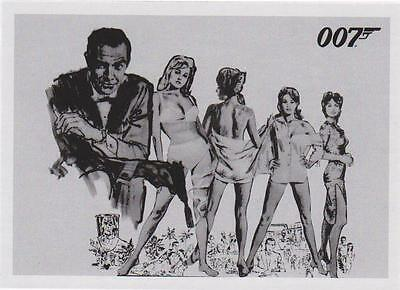 James Bond 007 50. Jubiläum Dr.No Komplettes 108-Card Einsatz Set