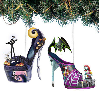 Hawthorn Disney Once Upon a Slipper Nightmare Before Christmas Shoe Ornaments #1
