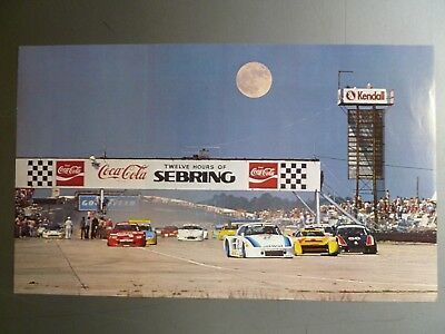 1983 Porsche 935 K5 Coupe 12 Hours of Sebring Poster RARE!! Awesome L@@K