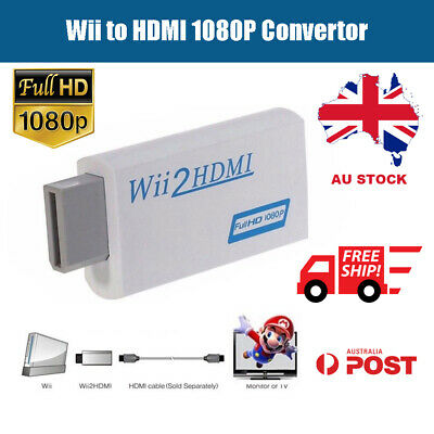 720P 1080P Full HD Wii to HDMI Video Converter 3.5mm Audio Adapter Upscaling AU
