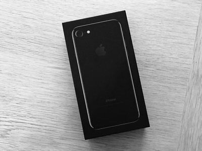 Original iPhone 7 32GB Empty Box only Retail Jet Black w/ Charger Cable Insert
