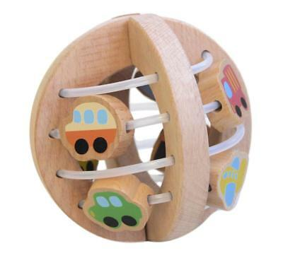 NEW Discoveroo Wooden Play Ball – Traffic - Baby Teething Toy