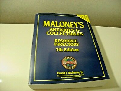 book antique and collectibles maloneys resource directory 5th edition paperback
