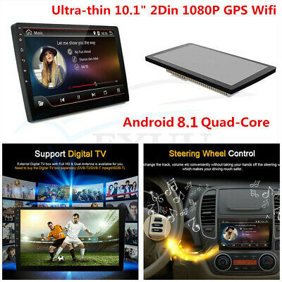 "Quad-Core Android 8.1 10.1"" 2Din Car Stereo Radio GPS Wifi LTE BT DAB OBD 1+16G"