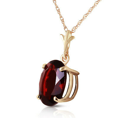 14K Solid Gold Women's Gorgeous Made Of Dawn Garnet Fashion Necklace 3.12 Ct
