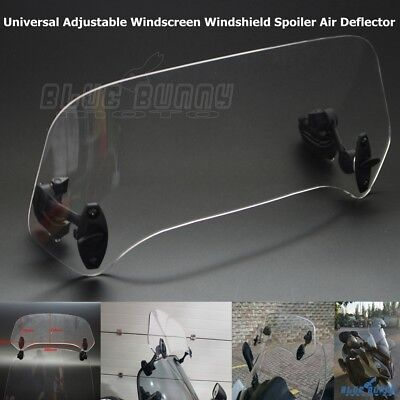 Adjustable Clip On Windscreen Spoiler Windshield Air Deflector For Honda Yamaha