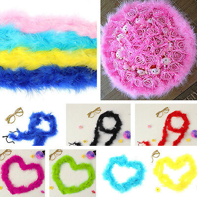 Fluffy Feather Boa Strip Hen Night Dressup Costume Wedding Party Gifts Decor 2M