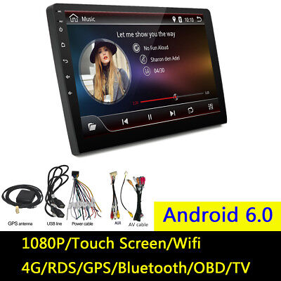 """10.1"""" Android 6.0 2Din Car GPS Stereo Touch Radio Player Quad-Core 2+32G WIFI 4G"""