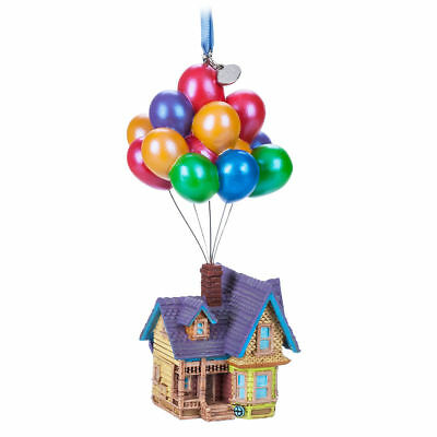 Disney Store 2018 Pixar Up House Balloons Sketchbook Ornament NWT Boxed