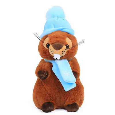 "JOYFAY® 10"" Cute Groundhog Marmot Woodchu Plush Stuffed Toy Valentine Gift"