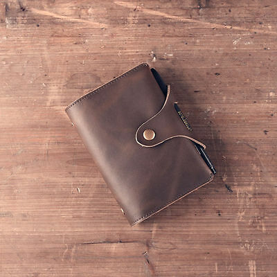 Genuine Leather Journal Handmade Notebook A7 Refillable Vintage Travel Notepad