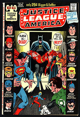Justice League Of America #91,  Aug 1971, Neal Adams Cover, Glossy Cents Copy!