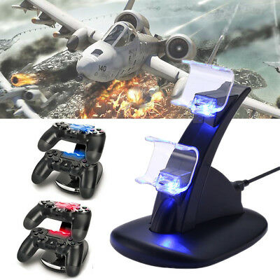 PS4 Playstation4 Ladestation Dockingstation USB Dual Controller Charger LED