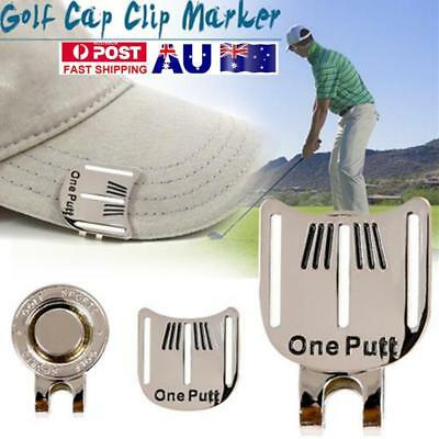 Golf Alignment Aiming Portable Tool Ball Marker Magnetic Visor Hat Clip AU