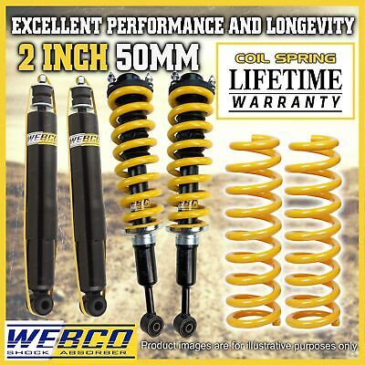 Mitsubishi Challenger PB 2 Inch Pre Assembled Lift Kit Shocks King Coil Springs