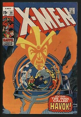 X-MEN #58 GREAT COVER! NEAL ADAMS COVER AND ART WHITE PAGES 1st HAVOK IN COSTUME
