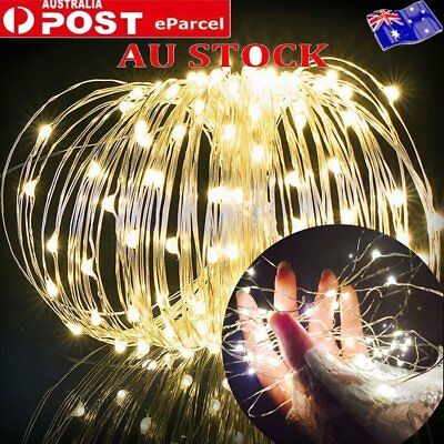 5m 10m LED Battery Powered Copper Wire Leds String Fairy Party Xmas Lights White