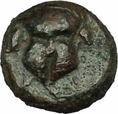 MESEMBRIA Thrace 400BC Rare  Ancient Greek Coin Corinthian helmet  i39714