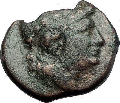 DIONYSOPOLIS 3-1CenBC Authentic Ancient Greek Coin COUNTERMARK Dionysus i63792