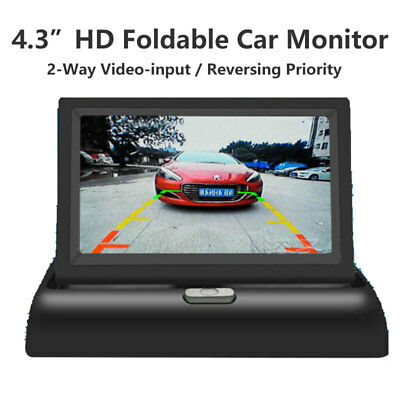 """4.3"""" Foldable Car Rear View Monitor TFT LCD Display Screen for Reverse Camera"""