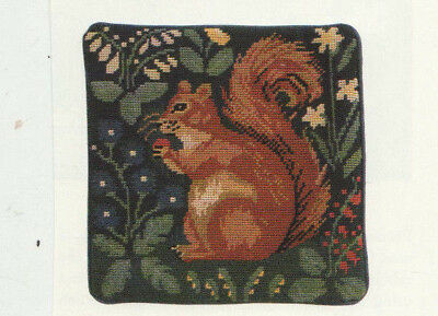 Red Squirrel Tapestry Needlepoint Chart in Colour Candace Bahouth Ehrman Rug