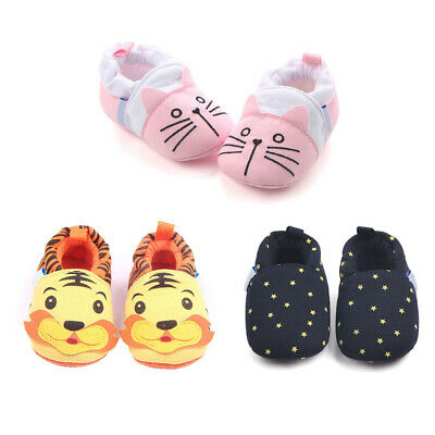 Baby Toddler Cute Cartoon Animal Patterns Soft Sole Prewalker Shoes Kids