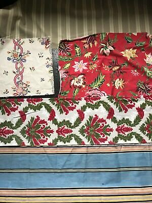 5 x Vintage Toile Lovely French fragment patchwork projects framing