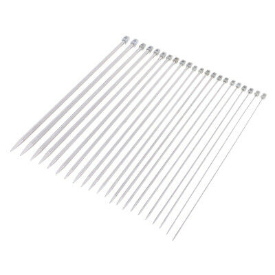 22pcs Stainless Steel Single Pointed Knitting Needles Weave Craft Tool 2-8mm
