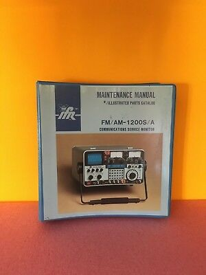 IFR 1002-5501-100 FM / AM 1200S,1200A Communications Service Monitor Manual