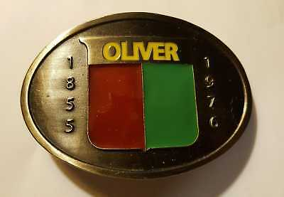 1976 Vintage Oliver Tractor Logo Western Style Collectible Die-Cast Belt Buckle