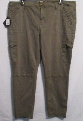 0ee4bbb5ed3eac NWT Ava & Viv Women's Plus Size Stretch Utility Jeggings Jeans GREEN 26W