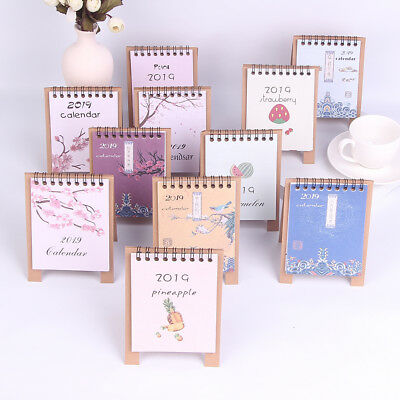 2019 Creative Cartoon Standing Calendars Multifunction Schedule Planner Noteb QP