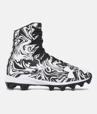 Under Armour Highlight Lux RM Jr. Youth Cleats, Balk/White SZ 1.5 1289779-011