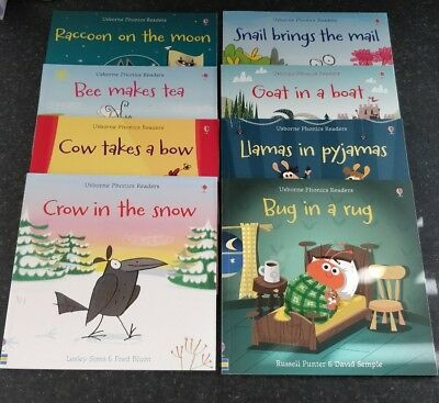 Usborne Phonics Readers Set Of 8 Books - New!