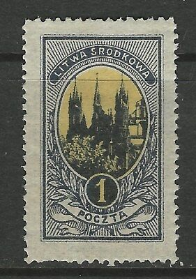 Classic CENTRAL LITHUANIA...#35... PERF 13 1/2..1921..Mint..SCV $17.25 est