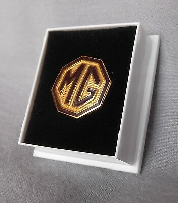 Genuine MG Classic Collection Enamelled Lapel Badge Burgundy / Cream