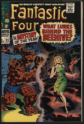 Fantastic Four #66, Sep 1967. Tight Structure, Off White/ White Pages