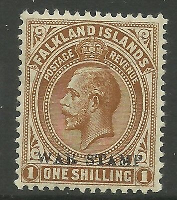 Falkland Is - GV War Tax 1/- - SG72 - VLMM - Cat £48