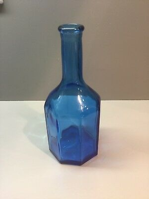 Wheaton Octagonal Blue Bottle