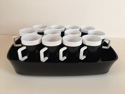 12 Lot Vintage Braniff International Airlines Black White Coffee Expresso Cup/mu
