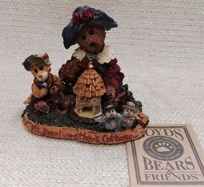 """NIB Boyds Bears Ms. Berriweather's Cottage """"Private Issue"""" Resin 171253"""