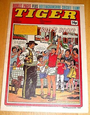 Tiger Comic 1980 With Nottinghamshire C.c.c. Centrefold Poster & Matchbox Advert