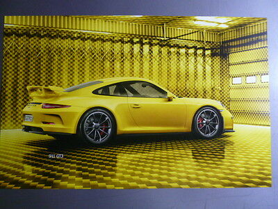 2015 Porsche 911 GT3 Showroom Advertising Sales Poster RARE!! Awesome L@@K