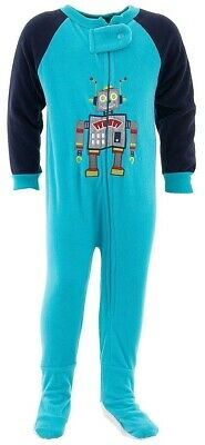Mike The Knight Infant /& Toddler Boys Fleece Blanket Sleeper Footed Pajamas 3T Blue